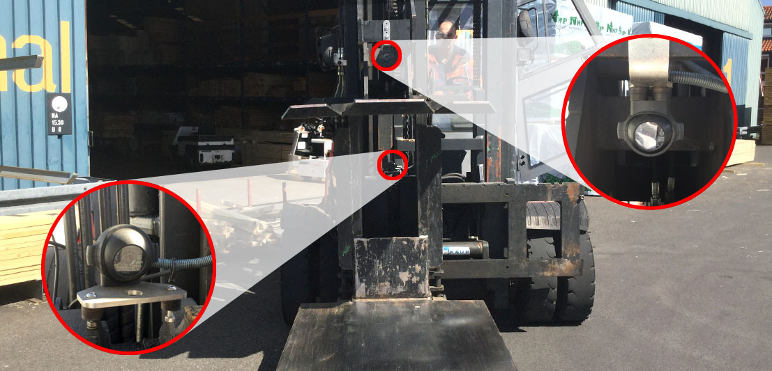 Cameras For The Best Posture When Operating A Forklift