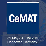 May 31 to June 3, CeMAT 2016, Hannover (DE), Stand 26 G21
